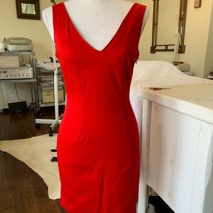 Bebe fitted red dress